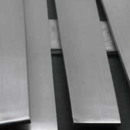 platina de acero inoxidable seccion principal
